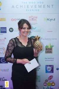 Lisa Sinnott with Woo Hoo Award